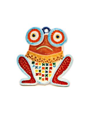 Frog shape decorative Tile Sea Gull Capri | 20000025 | RANA MATRANAROSSA