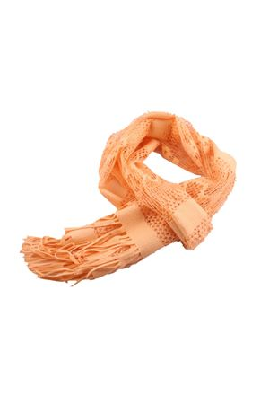 Embroidered Scarf with fringes Grakko Fashion | 77 | GR100ARANCIO