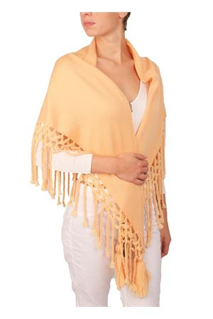 Cashwool stole with fringes and tufts Art Tricot | 61 | 2016135ARANCIO