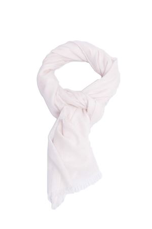 Silk and cashmere white scarf Colori Di Capri | 77 | COLCASHSILKBIANCO
