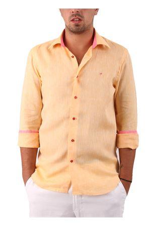 Linen shirt Colori Di Capri | 6 | CAM SLIM LINO UARANCIO
