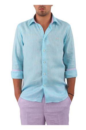 Camicia in lino Colori Di Capri | 6 | CAM SLIM LINO UAZZURRO