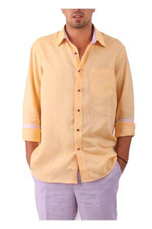 Linen shirt Colori Di Capri | 6 | CAMICIALINO UARANCIO