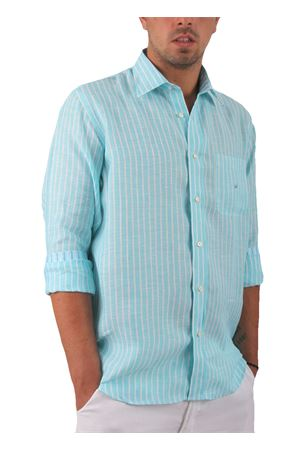 Camicia in lino Colori Di Capri | 6 | CAMICIALINO UAZZURRA/BIANCA