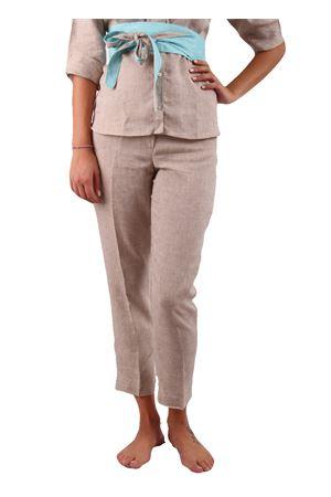 Pantaloni in lino Colori Di Capri | 9 | PANTALONI CAPRI COLORISABBIA