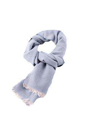 Cashmere and silk brushed scarf Colori Di Capri | 77 | SCARFCACHEMIREGAUZEAZZURRO