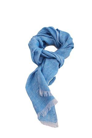 Customizable linen scarf Colori Di Capri | 77 | SCIARPA PERSONALIZZABILEAZZURRA DENIM