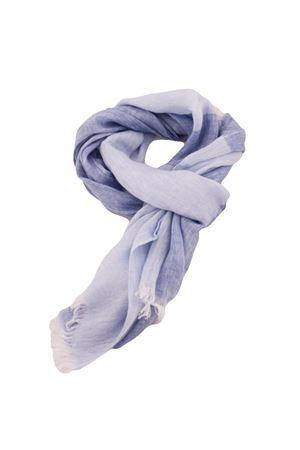 Customizable linen scarf Colori Di Capri | 77 | SCIARPA PERSONALIZZABILEAZZURRA RIGA LINO