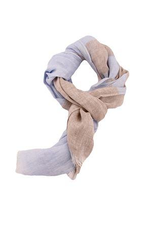 Customizable linen scarf Colori Di Capri | 77 | SCIARPA PERSONALIZZABILECELESTE RIGA BEIGE