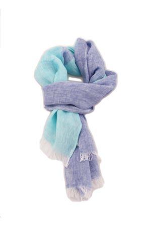 Customizable linen scarf Colori Di Capri | 77 | SCIARPA PERSONALIZZABILELINO RIGA TURCHESE