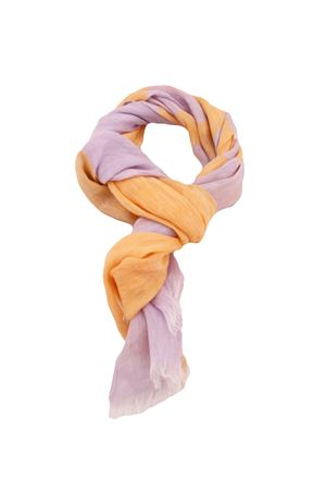 Sciarpa in puro lino Colori Di Capri | 77 | STRIPESCARFARANCIO/LILLA