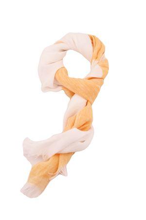 Linen scarf Colori Di Capri   77   STRIPESCARFBIANCO/ARANCIO