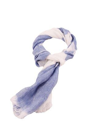 Linen scarf Colori Di Capri | 77 | STRIPESCARFBIANCO/LINO
