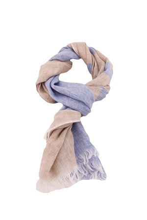 Linen scarf Colori Di Capri   77   STRIPESCARFLINO/BEIGE