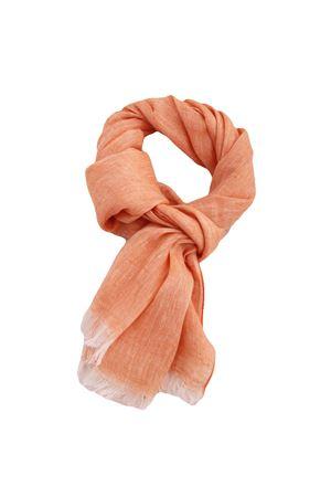 Linen scarf Colori Di Capri | 77 | TU SCARFARANCIO