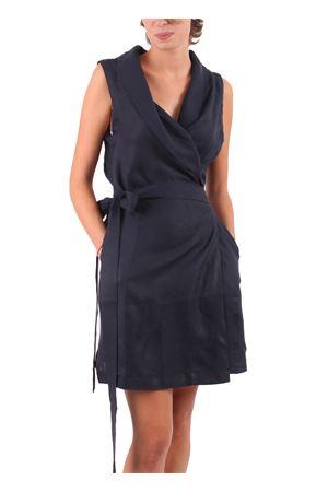 Vestito in lino Colori Di Capri | 5032262 | VESTITO PORTAFOGLIOBLU