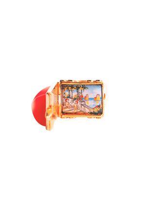 Anello con miniatura artigianale Puttini di Puttini Angela Puttini Gioielli | 5032250 | AN5ACORALLO