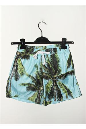 Costume da uomo con fantasia di palme Aram V Capri | 85 | BXML01CELESTE