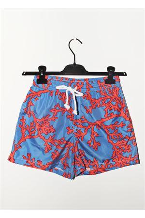Costume da uomo modello boxer con fantasia di coralli rossi Aram V Capri | 85 | BXML12MULTICOLOR