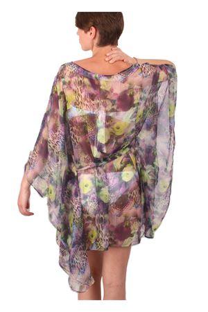 Pure silk kaftan with floral print Aram V Capri | 20000033 | KFNPRPSS16FLOWERS