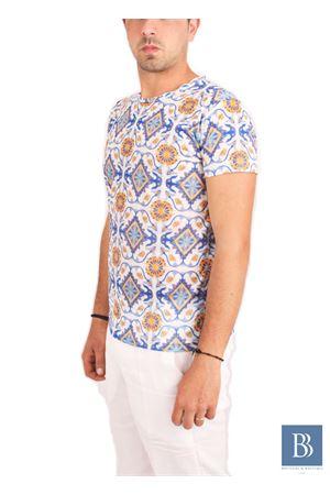Men handmade t-shirt Aram V Capri | 20000031 | PNL16TMCARANCIO