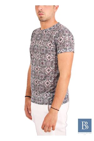 Men handmade t-shirt Aram V Capri | 20000031 | PNL6TMCACQUA