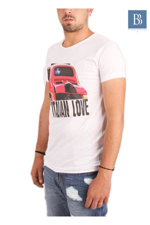 Maglia in cotone da uomo Fiat 500 Aram V Capri | 20000031 | TSHGP500BIANCO