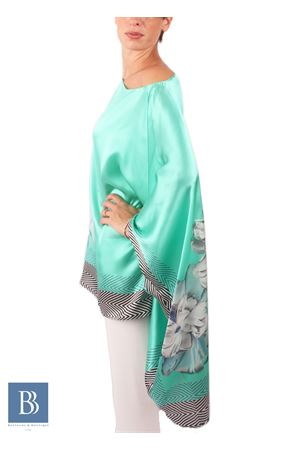 Wide tunic in 100% pure Italian silk Capri Chic | 5032233 | CASACCATIFFANYVERDE
