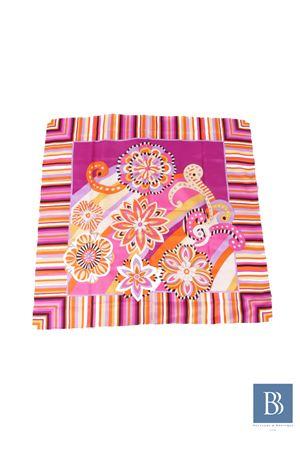 Silk scarf Capri Chic | -709280361 | FIORI RIGATOFUCSIA