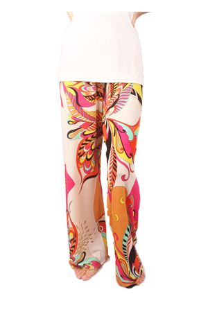 Wide orange stretch pants Capri Chic | 9 | FIORIARANCIO