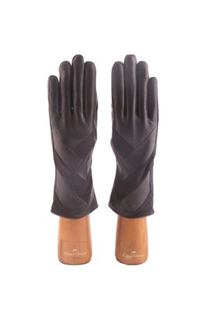 Crafts handmade gloves with suede application Capri Gloves | 34 | CA1959BLACK