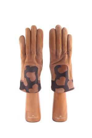 Handmade gloves in suede and pony hair Capri Gloves | 34 | CA2306EBANO BROWN