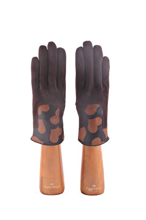 Suede black gloves with hearts decoration Capri Gloves | 34 | CA2306LUGGAGE