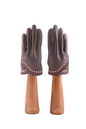 Brown handmade Capri gloves Capri Gloves | 34 | CA2498FOG