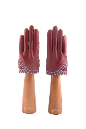 Red handmade Capri Gloves Capri Gloves | 34 | CA2498RUBY