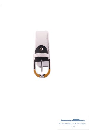 Cintura in pelle bianca Colori Di Capri | 22 | BELT COLORBIANCO