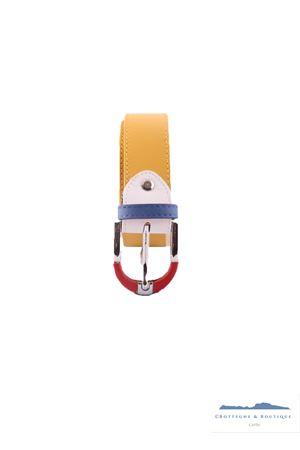Cintura da uomo in pelle gialla Colori Di Capri | 22 | BELT COLORGIALLA