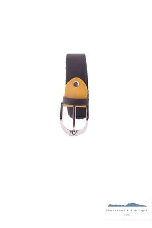 Cintura da uomo in pelle Colori Di Capri | 22 | BELT COLORNERO