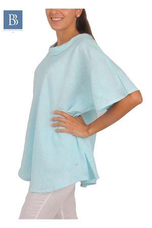 Blusa artigianale in lino Colori Di Capri | 20000031 | BLUSA ANELLOTURCHESE