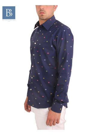 Men cotton shirt Colori Di Capri | 6 | BUBBLES SLIMBLU