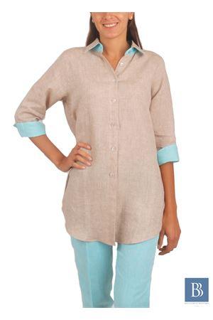 Camicia artigianale da donna in lino Colori Di Capri | 6 | CAMICIA COMFORTBEIGE
