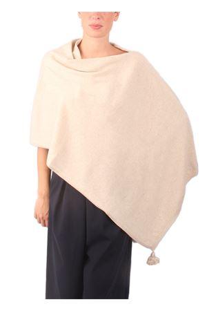 Poncho in lana, seta e cachemire da donna beige Colori Di Capri | 52 | PONCHOCACHSILKBEIGE