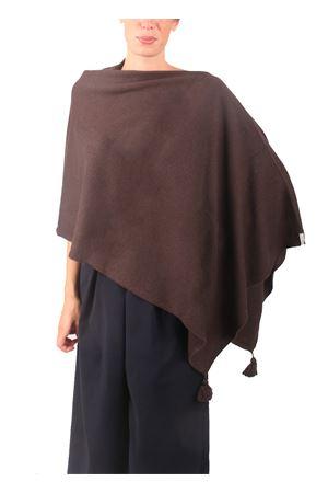 Poncho in lana, seta e cachemire da donna marrone Colori Di Capri | 52 | PONCHOCACHSILKMARRONE