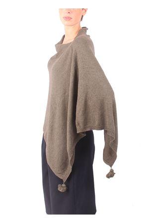 Poncho in lana, seta e cachemire da donna verde Colori Di Capri | 52 | PONCHOCACHSILKVERDE