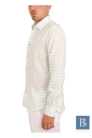 Men linen shirt Colori Di Capri | 6 | ROVESCIO SLIMVERDE