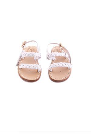 Sandali capresi da bambina con pelle lavorata Cuccurullo | 5032256 | BABY INTRECCIOBIANCO