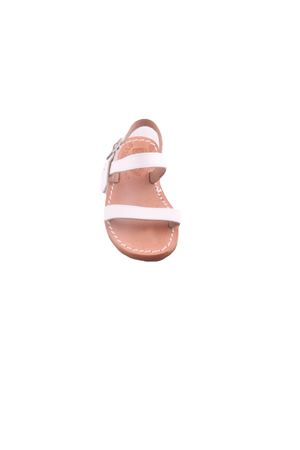 Capri sandals for baby with double band Cuccurullo | 5032256 | BABY STRIPESBIANCO