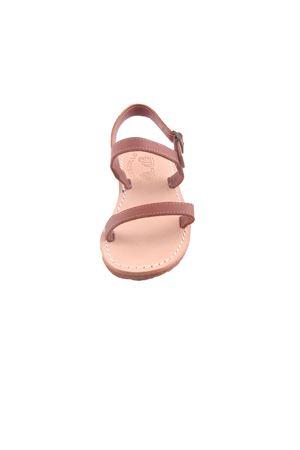Sandali capresi da bambina con doppia fascia in pelle Cuccurullo | 5032256 | BABY STRIPESMARRONE