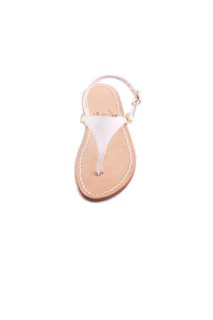 Sandalo triangolo da bambina bianco Cuccurullo | 5032256 | BABY TRIANGOLOBIANCO