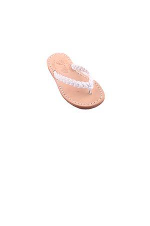 Sandali infradito da bambina in pelle bianca Cuccurullo | 5032256 | BABY WEAVEBIANCO